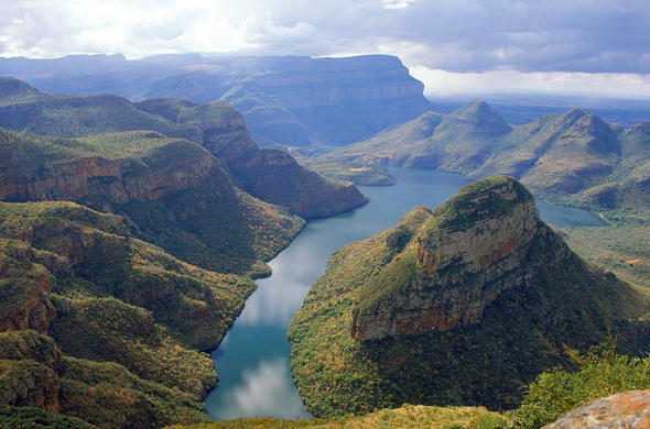 Striking view of the Blyde River Canyon along the Panorama Route near Kruger Park.