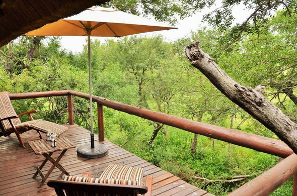 Striking bush views from your own private game viewing deck.