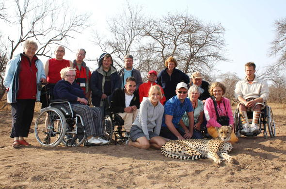 Disabled safari guests in Kruger National Park.