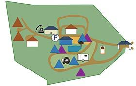 Punda Maria camp layout