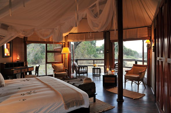 Luxurious Kruger Park accommodation is offered at Hamiltons Tented Camp.