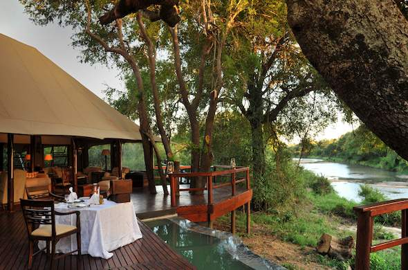 Stunning views from deck at Hamiltons Tented Camp.