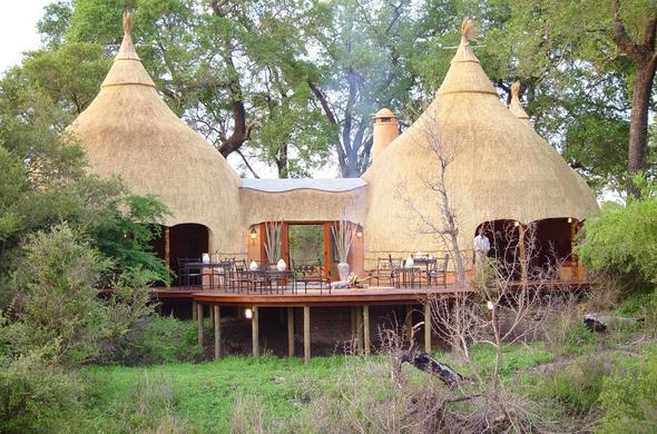 Traditional Tsonga Lodge in Kruger National Park.