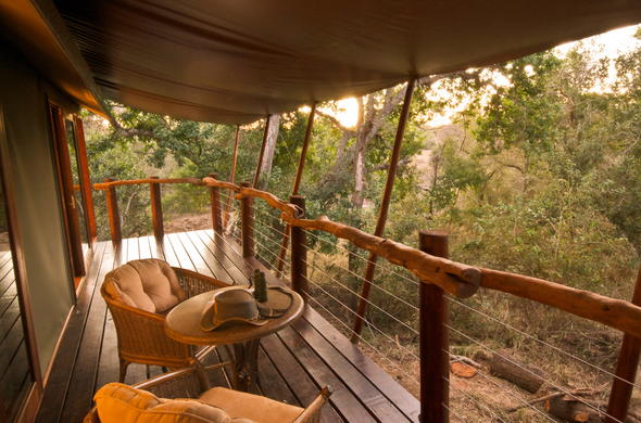 Enjoy bush views from your private game viewing deck.