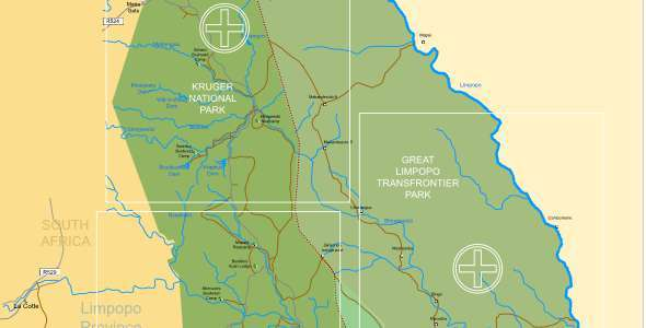 Kruger National Park Maps  Kruger Park Travel Information