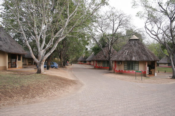 Bungalow accommodation in the Kruger National Park.