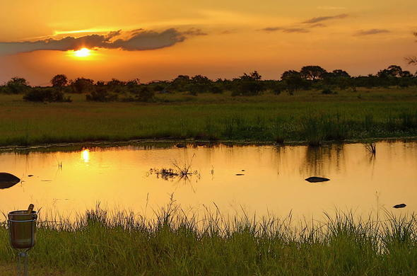 Magical sundowners in the Kruger National Park.