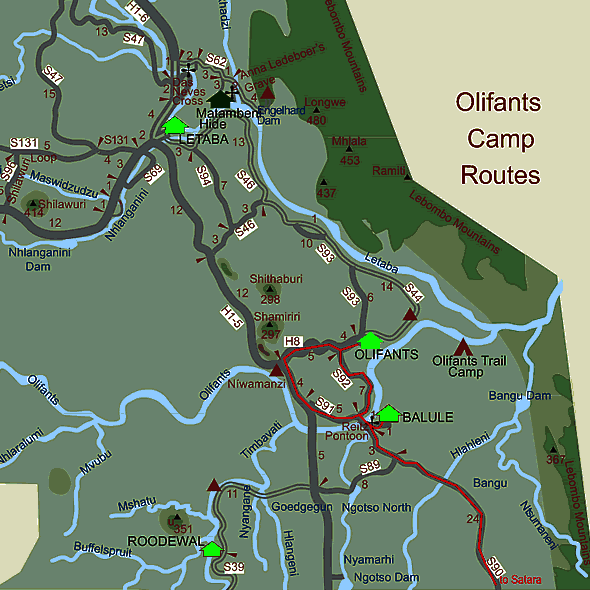 Olifants Route Map