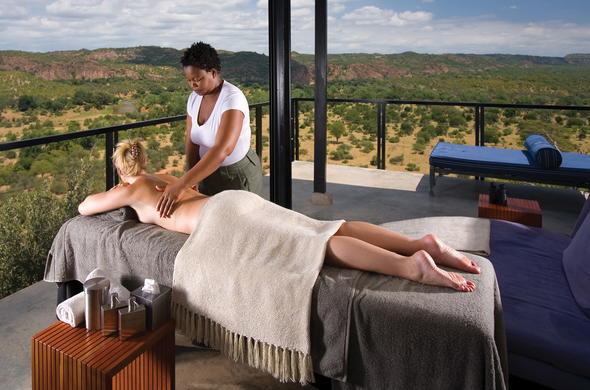 Soothing bush spa treatments are offered at Outpost Lodge.