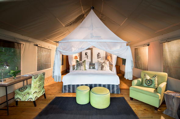 Tented Suite accommodation at Pafuri Camp.