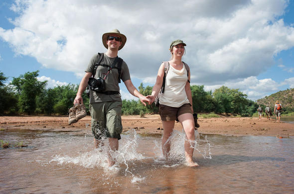 Guided walking safari in Kruger National Park.