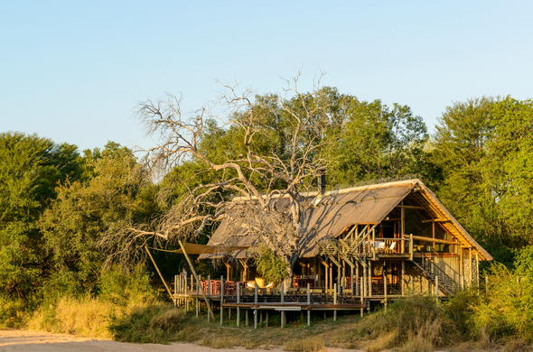 Classic Kruger Park safari lodge tucked away in the African bush.