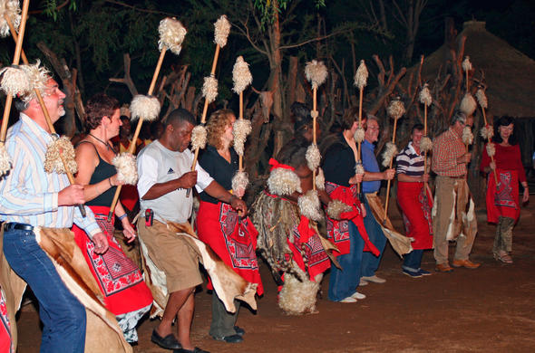 Shangaan cultural evening in Hazyview near Kruger Park.