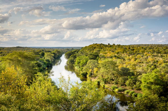 Singita Lebombo Lodge is located in the Kruger National Park.