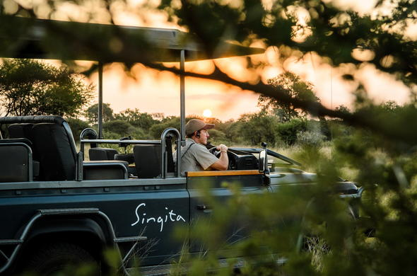Luxury open safari vehicle game drives in Kruger.