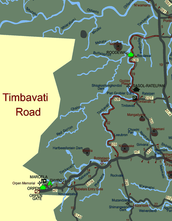 Timbavati Road Map