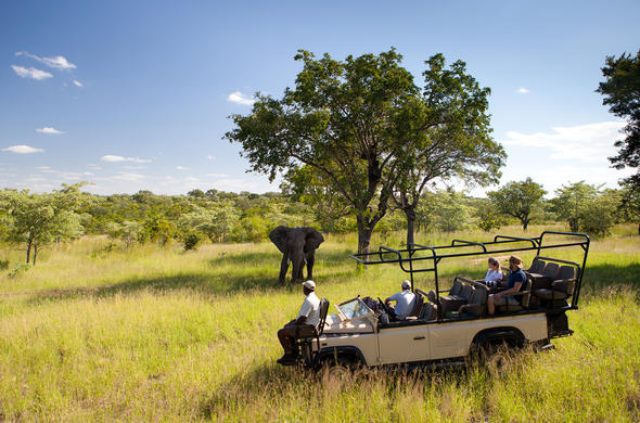 Romantic private game drive at Ulusaba Game Reserve.